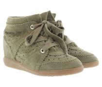 Sneakers - Bobby Sneaker Velvet Stainer Basket Taupe