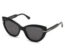 Sonnenbrille Women Sunglasses FT0762 Black/Grey