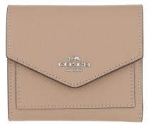 Portemonnaie Crossgrain Leather Small Wallet Taupe