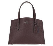 Tote Polished Pebble Leather Charlie Carryall Red