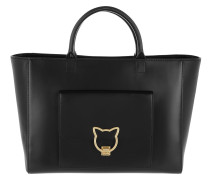 K/Kat Lock Shopper Black Umhängetasche