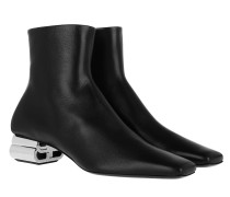 Boots Ankle Leather Black/Silver
