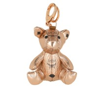 Keychain Mcm Zoo Pig Charm Champagne Gold