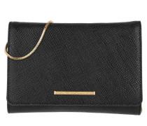 Tasche - Delaney Leather Clutch Black