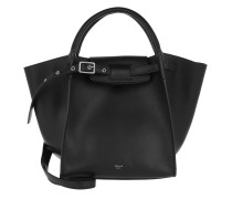 Small Big Bag Smooth Calfskin Black Tote