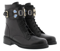 Boots & Booties - Military Crystal Boots Black