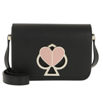 Umhängetasche Nicola Twistlock Small Flap Shoulder Bag Black