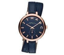 Armbanduhr - Sally Double Wrap Leather Watch Blue
