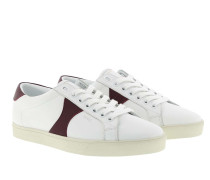 Sneakers Triomphe Low Lace-Up Calfskin White/Burgundy