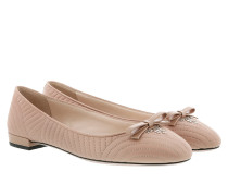 Quilted Bow Ballerina Nude Ballerinas