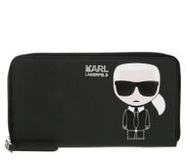 Ikonik Zip Wallet Black Portemonnaie