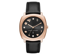 Ladies Mandy Watch Stainless Steel Rosegold/Black Armbanduhr gold
