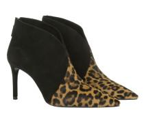 St. Leopard Ankle Boots Schuhe braun