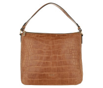 Athina Cortina Hobo Bag Croco Soft Light Brown