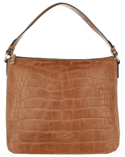 Athina Cortina Hobo Bag Croco Soft Light Brown