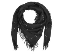 Survie SL Scarf Studs Check Black Schal