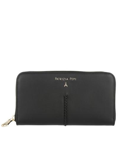 Zip-Around Wallet Nero Portemonnaie schwarz
