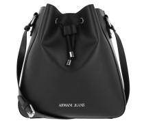 Eco Synthetic Bucket Bag Nero Beuteltasche