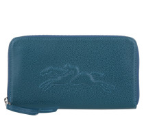 Kleinleder - Le Pliage Zip Around Wallet Large Bleu Oanar