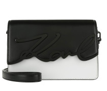 K/Metal Signature Shoulderbag Black/White Umhängetasche weiß