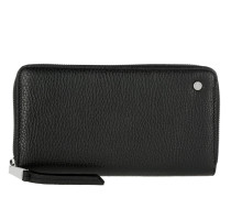 Adria Leather Wallet Black/Camel