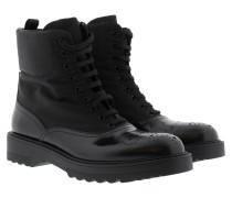 Boots & Booties - Calzatura Donna Spazzolato + Nylon Boots Nero