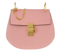 Drew Small Saddle Bag Grain Lambskin Washed Pink Tasche