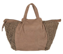 Noda Firenze With Nood Details Tosa Inu Brown Tote braun
