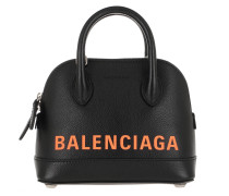 Umhängetasche Ville XXS Satchel Bag Leather Black/Fluo Orange