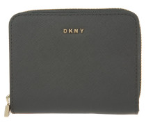 Bryant Park Saffiano Small Carryall Wallet Dark Charcoal