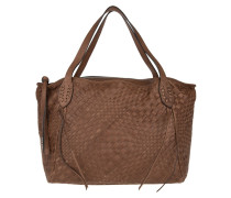 Tasche - West Braided Leather Tote Cognac