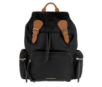 Buckled Backpack Black Rucksack