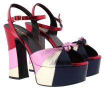 Candy 80 Platform Sandale Metallic Pink/Red/Blue/Silver Sandalen