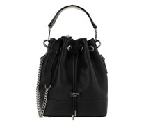 Beuteltasche Ninon Grained Leather Bucket Bag Mini