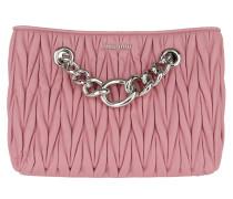 Matelassé Chain Umhängetasche Bag Pink