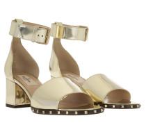 Rockstud Soul Ankle Strap Sandal Platino Sandalen