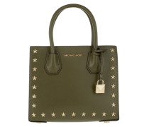 Mercer Stud MD Messenger Olive Tote