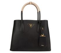 Tasche - Shopping Bag Saffiano Cuir Nero/Sabbia