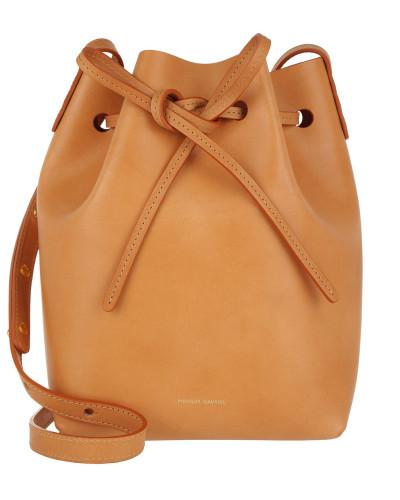 Beuteltasche Mini Bucket Bag Cammello/Rosa cognac