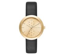 Armbanduhr - Garner Watch Gold-Tone Leather Black