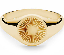 Ring Solar Signet Vermeil Polished Gold