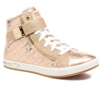 Shoutouts Quilted Crush Sneaker in goldinbronze