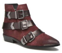 Denilla Buckle Stiefeletten & Boots in weinrot