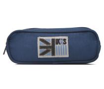 Trousse double UK Schulzubehör für Taschen in blau