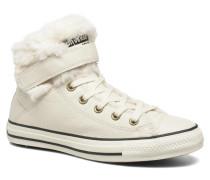 Chuck Taylor All Star Brea Leather+Fur Hi Sneaker in beige