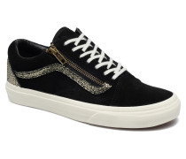 Old Skool Zip Sneaker in schwarz
