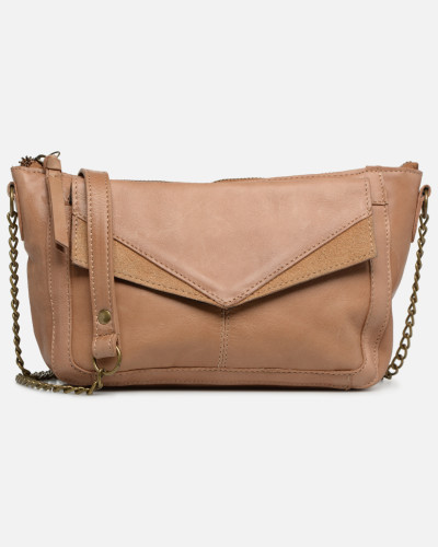 BETH LEATHER SMALL CROSSBODY Handtasche in braun