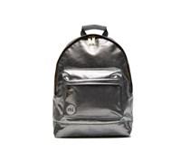Gold pebbled Backpack Rucksäcke für Taschen in silber