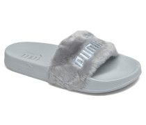The fur slide quarry Clogs & Pantoletten in grau