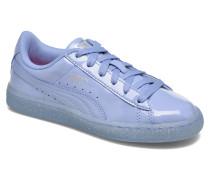 Basket Patent Iced Glitter Jr Sneaker in blau